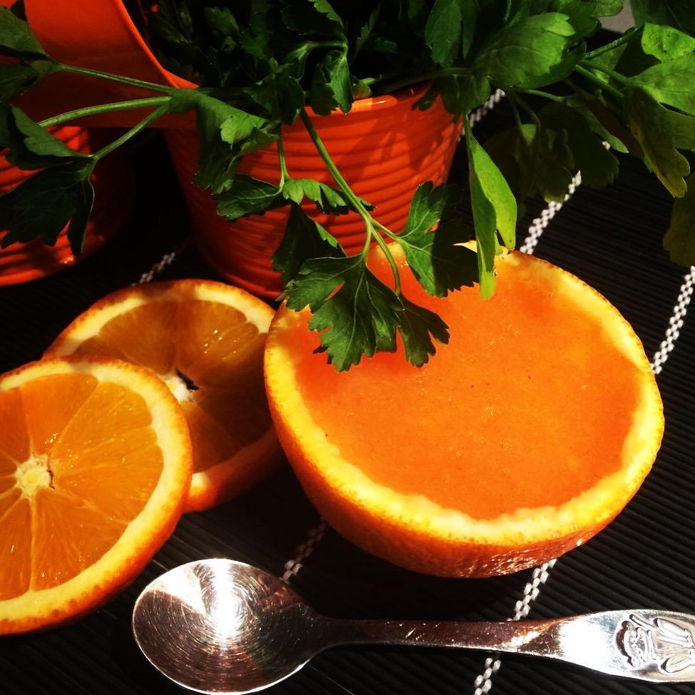 Ζελέ πορτοκαλιού με λωτό