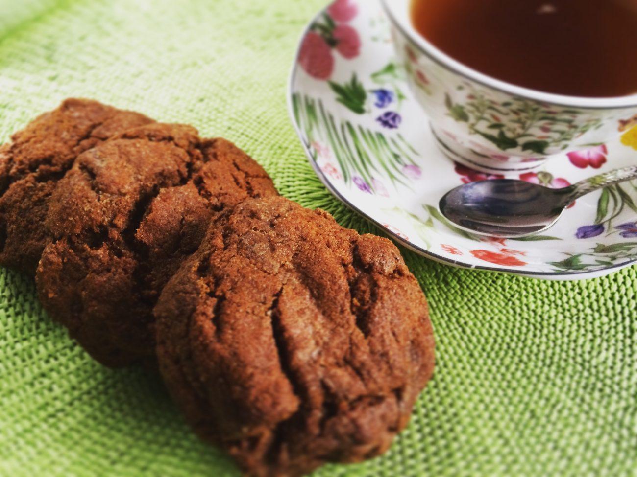 Ταχινοcookies με αλεύρι ζέας