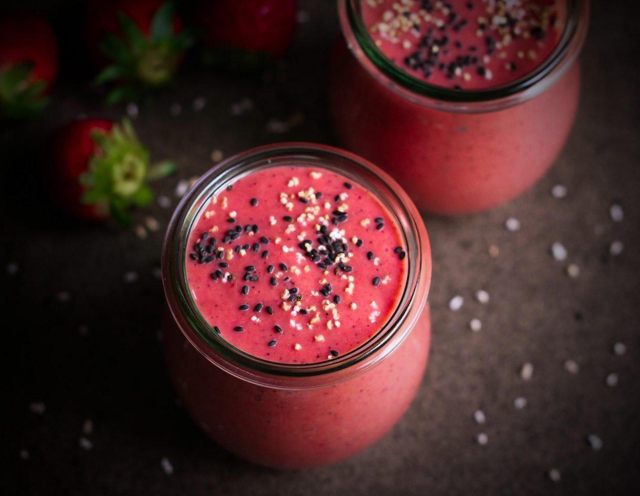 Πρωτεϊνικό milkshake καρύδα-φράουλα