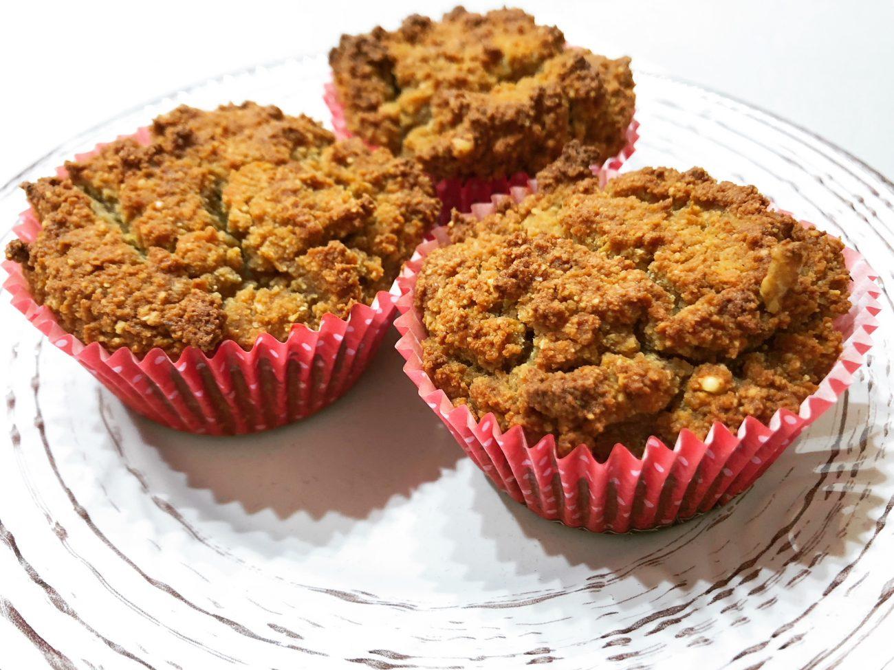 Muffins με κολοκύθα (gf, low-carb/keto)